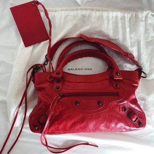Relisting Balenciaga First Bag Leather Tote in Red